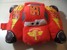 "18"" x 13"" plush Lightning McQueen from Cars by Pillow Pets, good condition"