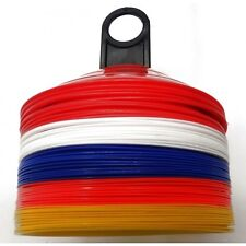 Football Training Plastic Marker Cones 50 Markers Discs With Stand