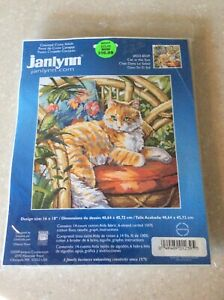 Janlynn Counted Cross Stitch Cat Kit