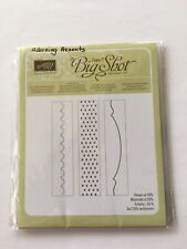 Stampin Up ADORNING ACCENTS 3 Borders Embossing Folder