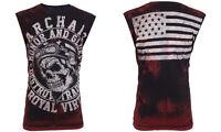 Archaic AFFLICTION Mens T-Shirt SLEEVELESS Fight Biker Gym MMA UFC M-3XL $40 r