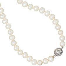Echtschmuck-Halsketten & -Anhänger im Collier-Stil aus Sterlingsilber Perlen