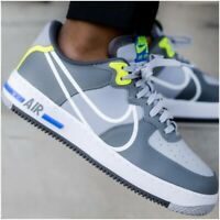 Nike Air Force 1 React D/MS/X Size 7-10 Mens Trainers Wolf Grey White CD4366-002