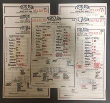 2014 World Series Complete Series San Francisco Giants Replica Lineup Card Set