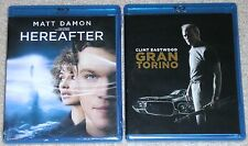 Clint Eastwood Blu-ray Disc Lot - Hereafter (New) Gran Torino (New)