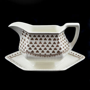 Adams Sharon / Sauciere Gravy Sauce Boat / Englische Keramik English Ironstone