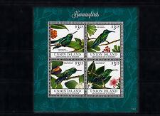Union Island Grenadines St Vincent 2013 MNH Hummingbirds II 4v M/S Birds Stamps