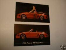★★2-1988 PORSCHE 930 SLANT NOSE PHOTO MAGNETS-TOOLBOX,FRIDGE-88 87 86★★