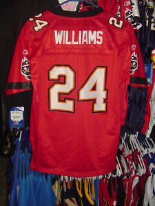 Buccaneers Cadillac Williams Reebok YOUTH EQT Jersey Lg