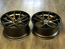 "20"" Ferrada FR2 Matte Bronze Alloy Wheels Mercedes C63 AMG Staggered Fitment"