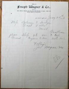 Neihart, MT 1896 Letterhead: Wine, Cigars, Liquor & Billiard Room - Montana Mont