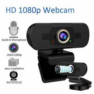 Full HD 1080P Autofocus Webcam Microphone USB 2.0 For PC Desktop Laptop New