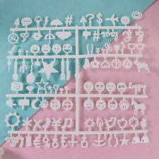 Letter Board Numbers Exchangeable Felt Alphabet Symbols Retro Color White