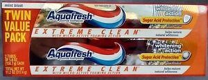 2 PAK~ AQUAFRESH~ Extreme Clean Micro-Active Foaming~ Sugar Acid Protection~ Whi
