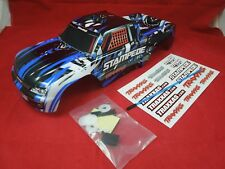 TRAXXAS STAMPEDE BLUE / BLACK /  WHITE BODY XL-5 VXL 4X4  BRUSHLESS 2WD VELINEON