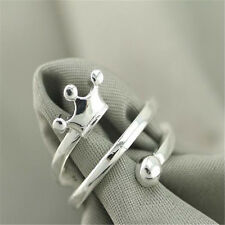 Fashion Ring Gift Size Open Hj208 925 Solid Sterling Silver Plated Women/Men New