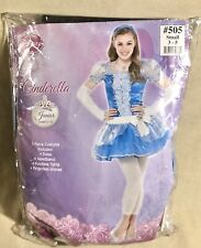 Disney Cinderella Costume - New, Junior Girl's Sm 3-5, 5 Pcs, Dress, Tights.