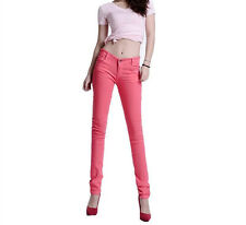Women SKINNY Slim Coloured Denim Stretch Jeggings Trousers Leggings Jeans UK Uk10 / 29 Deep Sky Blue