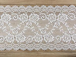 Tischläufer / Spitzenband - Bordüre weiß, 15cm x 9m   Hochzeit Tischdeko