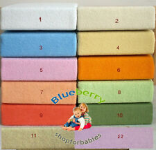 Jersey Fitted Sheet blue Toddler Bed/Baby Cot Bed,140 x 70