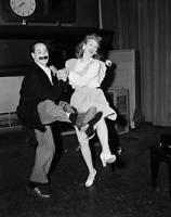 OLD PHOTO CBS RADIO TV Groucho Marx & Lucille Ball performing on radio 2
