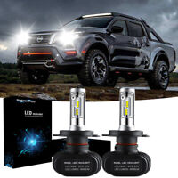 H4 LED Headlight KIT Globes Bulbs VS hid Xenon 6000K Fit Nissan Navara D22 D40