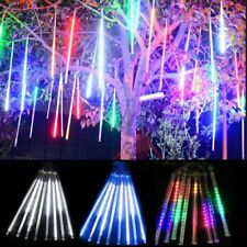 LED Meteor Shower Falling Star Rain Drop Icicle Snow Fall Xmas String Lights
