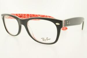 RAYBAN PRESCRIPTION 5184 2479 52MM TOP BLACK ON TEXTURE RED PLASTIC FRM CLEAR L