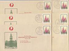 Stamps Australia 27c flower pse set of 45 Melbourne GPO 1997 pictorial postmarks