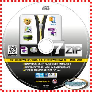 ✅7 ZIP CD 38 ARCHIV PACKEN ENTPACKEN 32- 64-bit WINZIP ZIP RAR TAR KOMPRIMIEREN