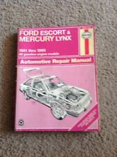 Repair Manual Haynes 36016  789 Ford Escort & Mercury Lynx 1981 - 1990