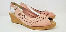Spring Step Chata Women Sandal Sling Back Peep Toe Platform Comfort Shoe SZ 9.5