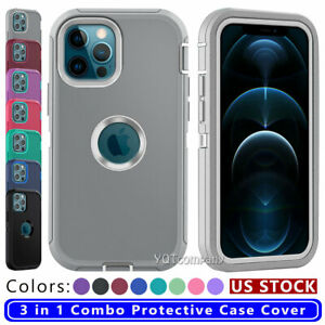 For iPhone 12 11 Pro XS Max XR 6 6s 8 7 Plus Shockproof Hybrid Armor Case Cover