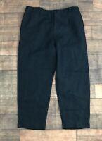 J. Jill Love Linen NWT Crop Capri Pants Deep Blue Womens Size XS