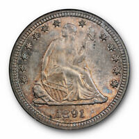 1891 25c Seated Liberty Quarter NGC MS 63 Uncirculated Beautifully Toned
