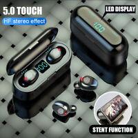 Tws Wireless Earphones bluetooth 5.0 Earbuds Mini Headset LED Stereo Headphones