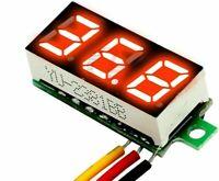 Mini Two Wires Digital Voltmeter DC4.5-30V LED Display Panel Voltage Meter Ultra