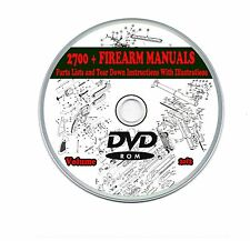 Firearm Weapon Manuals 2700 + Rifle,Carbine,Shotgun,Gun,Pistol, 2 DVDs  Volume 2