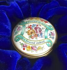 Halcyon Days Enamel Trinket Box A Friend In Need Is A Friend Indeed England