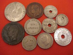 10 Greece Coins 1882 - 1962