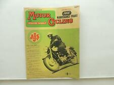 April 1960 Motorcycling With Scooter Weekly Magazine AJS Lambretta Ariel L8733