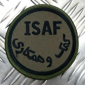 Genuine British ARMY ISAF International Security Assistance Force OD Badge - IS3