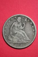 1858 O Seated Liberty Half Dollar Exact Coin Pictured Flat Rate Shipping OCE 094