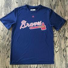 MLB Atlanta Braves Majestic Evolution Cool Base Men's Blue Tee Shirt NEW