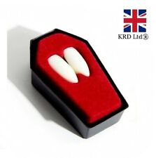 Halloween White VAMPIRE FANGS Dracula Fake Teeth Caps Fancy Dress ZPC401 UK