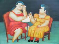 """Ölgemälde   nach Fernando Botero"""" Frauen auf der Party """" handgemalt"""