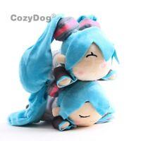Anime Hatsune Miku Smile Sleeping Drooling Plush Toy Soft Stuffed Doll Xmas Gift