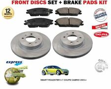 FOR SMART ROADSTER 0.7 COUPE CABRIO 2003-> FRONT BRAKE DISCS SET+ DISC PADS KIT