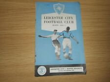 LEICESTER CITY  v  NOTTS COUNTY  1956/7  ~ SEPT 22nd *LEICESTER DIV 2 CHAMPIONS*