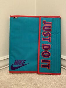 Nike Big Logo Patch Mead 90s Trapper Keeper Style Notebook School Sport Binder